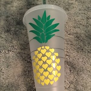 Personalized Starbucks pineapple cold cup